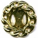 kettingclip 35mm goud rond kunststof