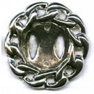 kettingclip 35mm zilver rond kunststof