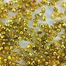 Facet kralen rond 4mm geel donker goud