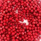 Facet kralen rond 4mm rood