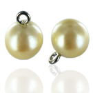knopen 12mm parel creme rond
