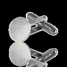 manchetknopen 10mm zilver rond