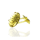 manchetknopen 14mm goud rond