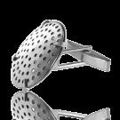 manchetknopen 23mm zilver rond