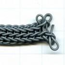 koord 6mm zwart gevlochten rubber kleurnummer 933