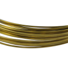 koperdraad 8mm goud rond kleurnummer 737