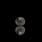 kralen 4mm oudzilver rond metaal