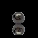 kralen 5mm oudzilver rond metaal