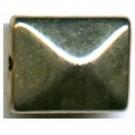 kunststof kralen 17mm zilver rechthoek