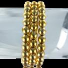 kunststofkralen 5mm goud rond 3