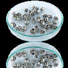Kralen van metaal tinkraal oudzilver 925 verzilverd 7mm