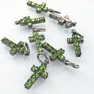 Hangertjes kristal strass hangertje kruisje groen