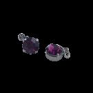 Hangertjes kristal strass hangertje 8mm paars