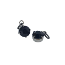 Hangertjes kristal strass hangertje 8mm zwart