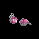 Hangertjes kristal strass hangertje 8mm roze