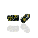 Krobo beads kralen Ghana 20mm zwart ovaal