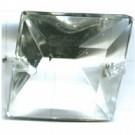 kroonluchter onderdeel 24mm kristal vierkant