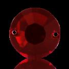 Kunststof opnaaisteen 14mm rood rond