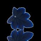 hangers 28mm donker blauw blaadje