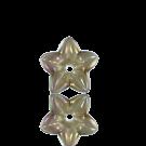 kunststofkralen 12mm bruin bloem