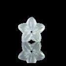 kunststofkralen 12mm kristal AB bloem