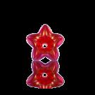 kunststofkralen 12mm rood bloem