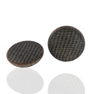 Kunststof bouton rond 23mm bruin