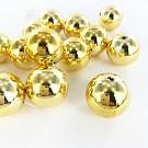 Kunststof kralen rond 20mm goud