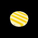 Kunststof kralen 34mm rond wit geel