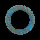 Kunststof kralen ringen gesloten rond 35mm turquoise