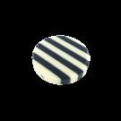 Kunststof kralen 34mm rond wit zwart