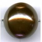 kunststof parels 16mm bruin rond kleurnummer 245