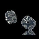 Kunststof kraal ring met bloemen 10mm rond oudzilver en koper