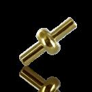 koppelstuk sluiting 8mm goud rond kunststof voor pvc