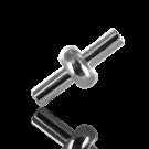 koppelstuk sluiting 8mm zilver rond kunststof voor pvc