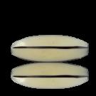 Kunststofkralen 45mm wit zwart ovaal