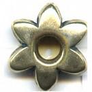 kunststofkralen 18mm oudgoud bloem
