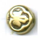 kunststofkralen 7mm oudgoud rond