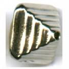 kunststofkralen 10mm zilver konisch