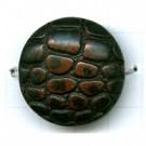 kunststofkralen 30mm bruin rond