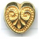 kunststofkralen 12mm goud hartje