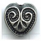 kunststofkralen 12mm zilver hartje