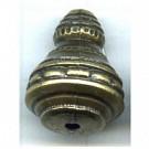 kunststofkralen 17mm oudgoud rond