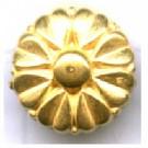 kunststofkralen 10mm goud bloem