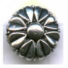 kunststofkralen 10mm oudzilver bloem