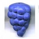 kunststofkralen 25mm blauw fruit