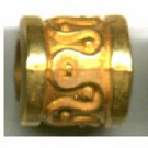 kunststofkralen 9mm goud cilinder