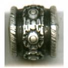 kunststofkralen 9mm oudzilver cilinder