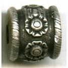 kunststofkralen 13mm oudzilver cilinder kleurnummer 833