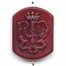 kunststofkralen 27mm rood rechthoek
